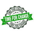 time for change stamp sign seal vector image vector image
