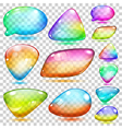 Transparent multicolored glass shapes vector image