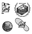 vintage golf club emblems vector image vector image
