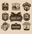 vintage wild west labels vector image vector image