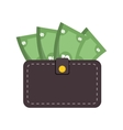 wallet bill money cash dollar vector image vector image