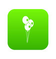 wedding balloons icon digital green vector image