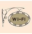 Wi Fi text on vintage street sign vector image vector image