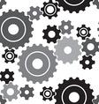 seamless cogwheel pattern vector image