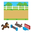 Racecourse Background For Animation vector image