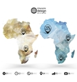 Africa map template triangle design infographics vector image