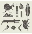 australia icons vector image vector image