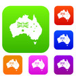 australia set color collection vector image vector image