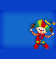 background template design with funny clown vector image