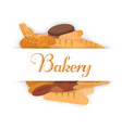 bakery banners baking bread and cakes vector image vector image