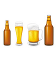 beer glass vector image vector image