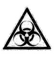 biohazard symbol sign drawing vector image