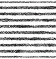 black and white textured stripes seamless pattern vector image