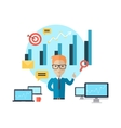 Business Training Concept vector image vector image