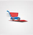cart automotive car logo icon element vector image vector image