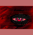 cyber digital background vector image vector image