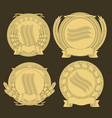 emblems with and a wreath wheat image vector image vector image