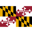 flag of the usa state of maryland vector image
