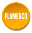flamenco orange round flat isolated push button vector image vector image
