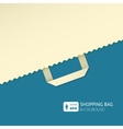 Flat background with shopping bag vector image vector image
