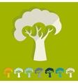 Flat design tree vector image vector image