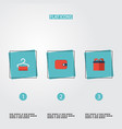 flat icons purse present dress stand vector image