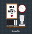 Flat of home office workplace vector image