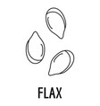 flax icon outline style vector image vector image