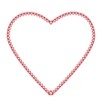 frame heart little hearts red color on a vector image vector image