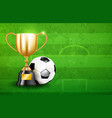golden trophy cups and soccer ball 003 vector image vector image