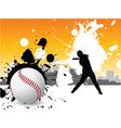 Graffiti baseball vector image vector image