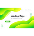 green liquid landing page template vector image vector image