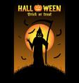 grim reaper with halloween background vector image