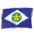 Grunge Mato Grosso flag vector image vector image
