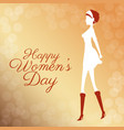 happy womens day poster elegant girl bubbles vector image vector image