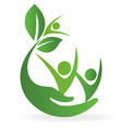 health nature care logo vector image vector image