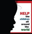 help children around the world silhouette vector image