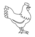 Hen icon outline style vector image vector image