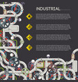 industrial steam transfer concept vector image