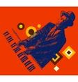 JAZZ Man Playing the Piano Hand Drawn Sketch vector image vector image