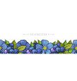 leaves and flowers seamless border frame vector image vector image