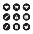 Medical black icons set vector image vector image