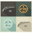 Military flat design sign vector image