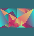 minimal multicolored geometric gradient triangle vector image vector image