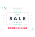 modern discount web page design vector image vector image