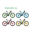 modern electric bicycles set city life with eco vector image vector image