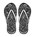Ornate Women s Slippers vector image