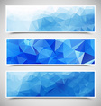 Polygonal Banners Set vector image
