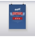 Poster Happy Birthday vector image vector image