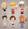 professions set1 2 vector image vector image